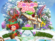 Blossom Blast Saga main menu (winter-theme) Facebook