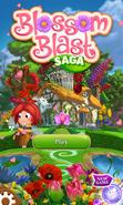 Blossom Blast Saga main menu (Valentine-theme) mobile