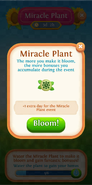 Miracle Plant flower tab 1 extra day for this event