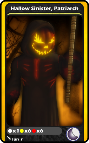 Hallow Sinister Patriarch Blox Cards Wikia Fandom