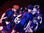 Blue Lock TV Anime Key Visual