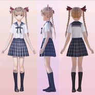 Yuzuki Shijou School Uniform 3D Model