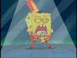 SpongeBob chante la chanson dans la voix d'Eisley