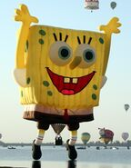 Spongebob Squarepants as a balloon