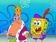 Patricio rey y bob esponja bufon