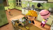 BoBoiBoy Angin dan Yaya mempersiapkan bahan-bahan