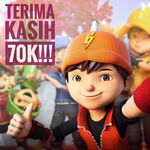 BoBoiBoy say Thank You for 70K Follower