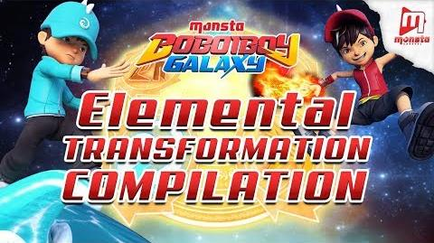 BoBoiBoy Galaxy - All BoBoiBoy's Elemental Transformation (EP01-18)