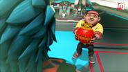 Gopal tunjukkan FireBot kepada Tarung