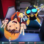BoBoiBoy and Ochobot selfie