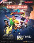Congratulations to BoBoiBoy Movie 2