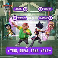 Ying, Gopal, Fang and Yaya