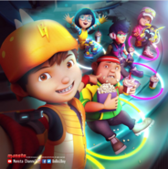 BoBoiBoy and friends watching movie in MYS Kebenaran