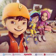 BoBoiBoy, Ying and Yaya selfie