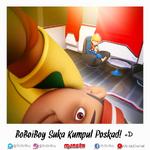 BoBoiBoy collecting postcard
