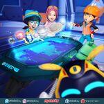 Ying, Yaya and BoBoiBoy looking planet