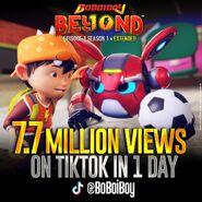 7.7. Million Views on TikTok in 1 Day