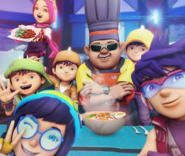 Little chef and his friends