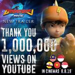 Thanks for 1,000,000 views on Youtube!