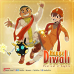 BoBoiBoy and Gopal wishing Diwali