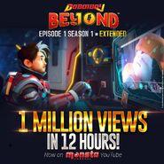 BoBoiBoy Beyond - 1 Million Views