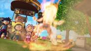 BoBoiBoy bertukar menjadi BoBoiBoy Api