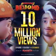BoBoiBoy Beyond - 10 Million Views