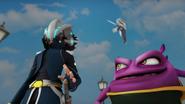 Kaizo dan Lahap berjalan ke arah Fang