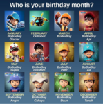 Who is your birthday month