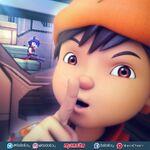 BoBoiBoy checking the situation
