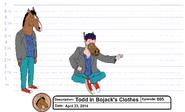 Todd dressed as BoJack model sheet