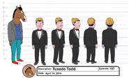 Tuxedo Todd model sheet