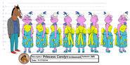 Princess Carolyn bridesmaid outfit model sheet