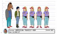 American Tourist Mom Model Sheet