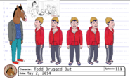 Todd Drugged Out model sheet