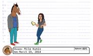Mila Kunis model sheet