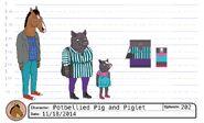 Potbellied Pig and Piglet model sheet