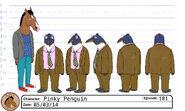 Pinky Penguin model sheet