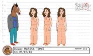 Marisa Tomei model sheet