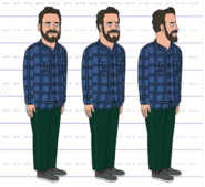 Peter Merryman Model Sheet
