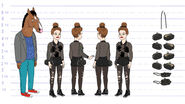 Sarah Lynn funeral outfit model sheet