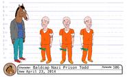 Baldcap Nazi Prison Todd model sheet