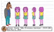 Princess Carolyn 90s model sheet