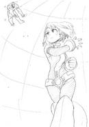 Ochaco Defeating USJ Nomu Sketch