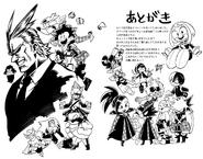 Horikoshi's doodles for Book 2 Ultra Analysis