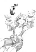 Ochaco Uraraka Figure Reveal Sketch