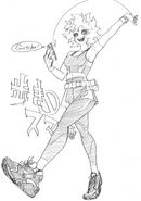 Boceto de Mina Ashido