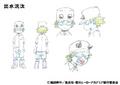 Kota Izumi Shading TV Animation Design Sheet