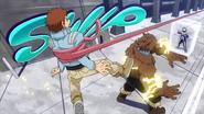 Kosei es atrapado por Tsuyu