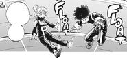 Izuku training with Ochaco